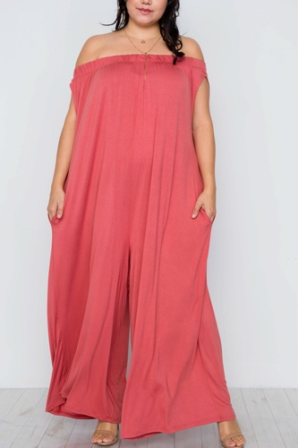 Plus size basic off-the-shoulder jumpsuit-id.cc37552