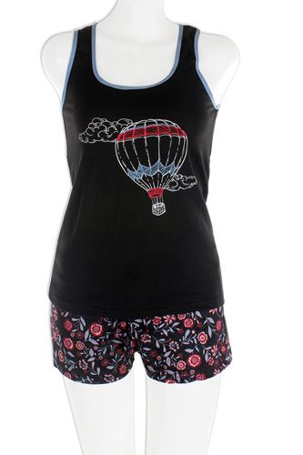 Knit racerback tank with printed shorts set-id.cc37570