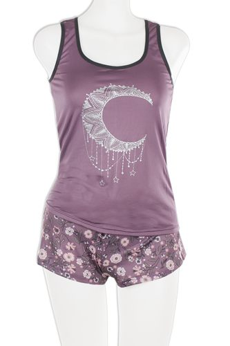 Knit racerback tank with printed shorts set-id.cc37571
