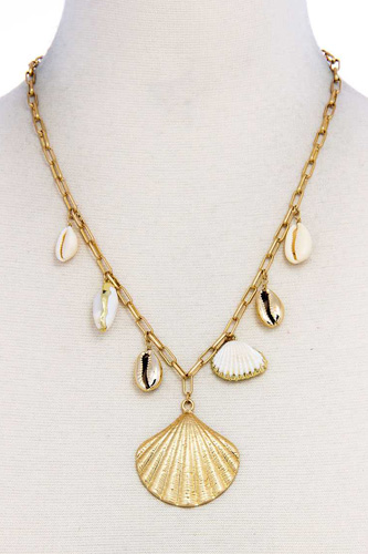 Trendy fashion chic sea life shell necklace-id.cc37582