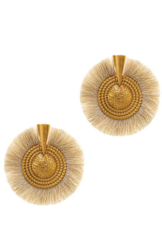 Modern fashion trendy tassel circle earring-id.cc37585