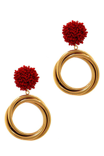 Chic modern multi hoop drop earring-id.cc37587