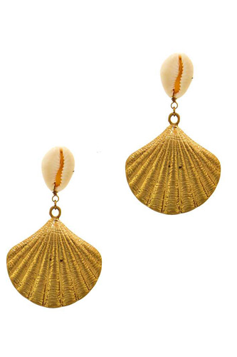 Designer trendy sea life shell earring-id.cc37593