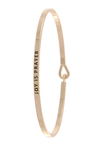 Joy is prayer lettering bangle-id.cc37601