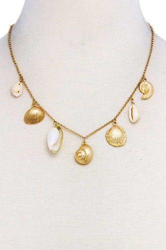 Trendy sea life shell pendant necklace-id.cc37606