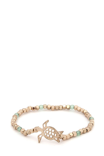 Sea turtle beaded stretch bracelet-id.cc37614