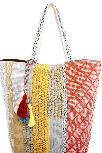 Modern fashion soft chic fabric shopper bag-id.cc37636