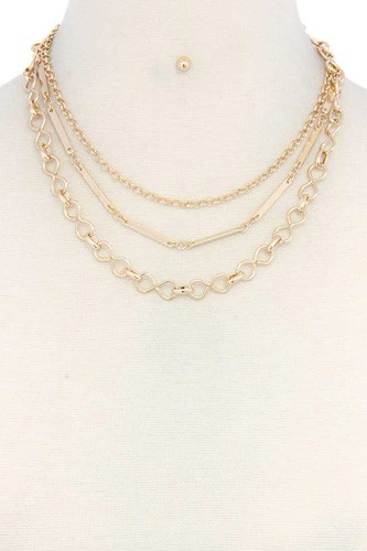 Metal chain layered necklace-id.cc37651