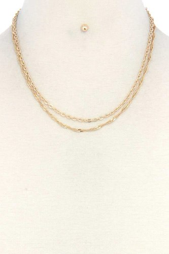 Metal layered necklace-id.cc37653