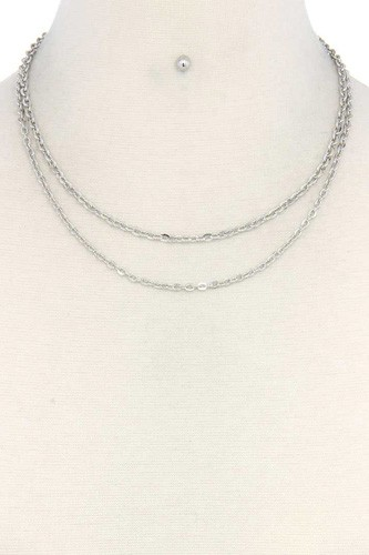 Metal layered necklace-id.cc37654