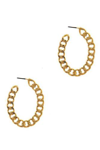 Modern fashion open chain hoop earring-id.cc37655