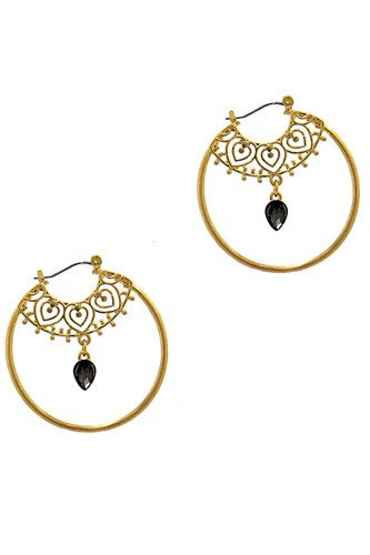 Stylish fashion rhinestone hoop earring-id.cc37658