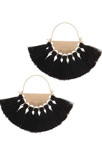 Fan tassel drop earring-id.cc37660
