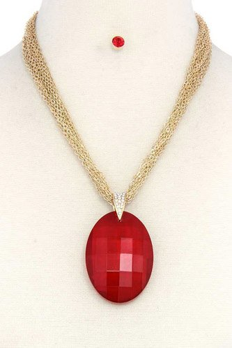 Oval shape pendant necklace-id.cc37716