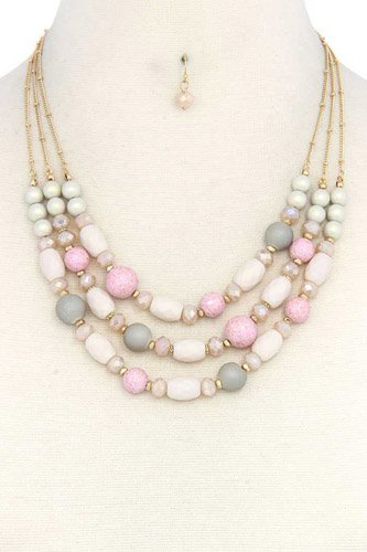 Beaded layered necklace-id.cc37721
