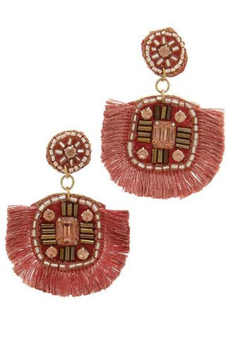 Tassel post drop earring-id.cc37728