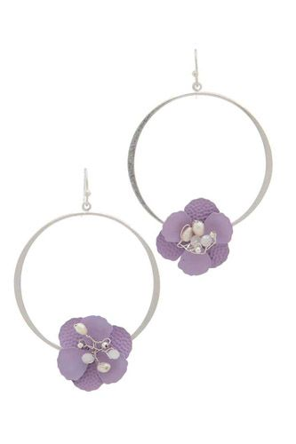 Flower shape ring drop earring-id.cc37729