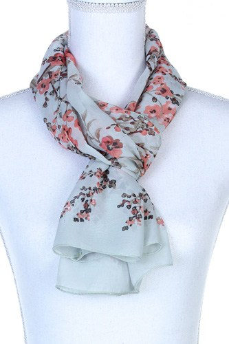 Floral pattern oblong scarf-id.cc37777