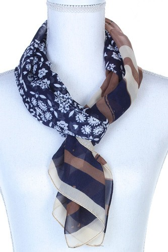 Sheer color block oblong scarf-id.cc37778