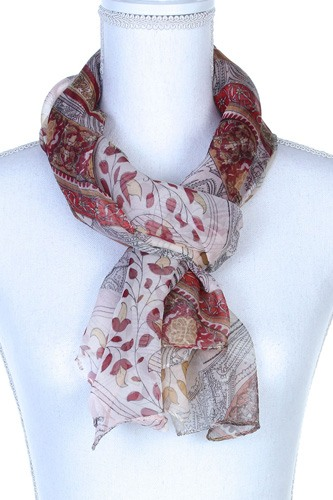 Paisley pattern sheer oblong scarf-id.cc37783