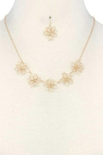 Wire flower necklace-id.cc37787