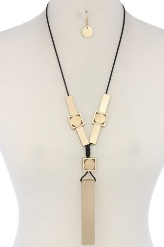 Modern geometric shape necklace-id.cc37792
