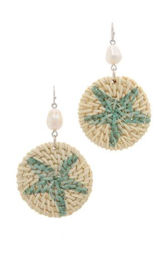 Starfish print circle drop earring-id.cc37800