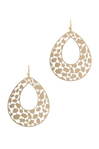 Laser cut metal teardrop shape earring-id.cc37801