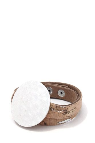 Hammered brushed round wrapped bracelet-id.cc37811