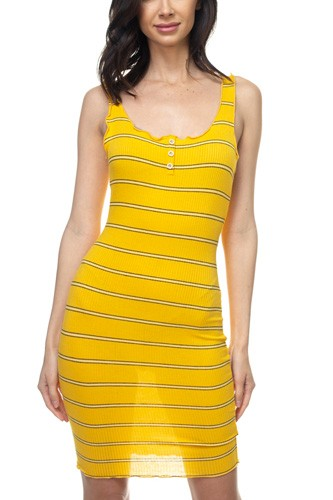 Stripe bodycon ribbed dress-id.cc37838a