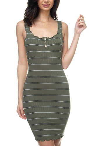 Stripe bodycon ribbed dress-id.cc37838b