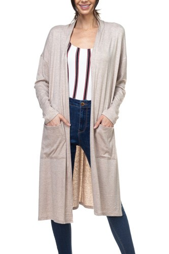 Long sleeve pocket cardigan-id.cc37839a