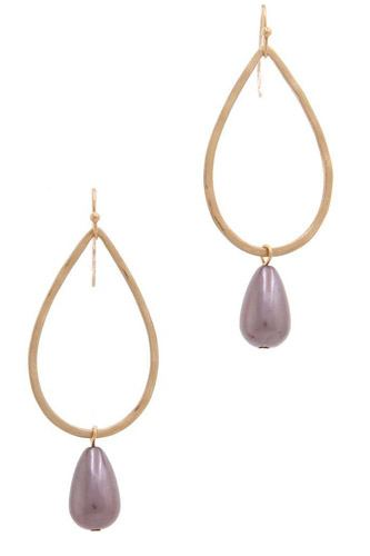 Teardrop shape bead dangle drop earring-id.cc37871