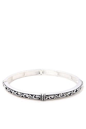 Filigree metal stretch bracelet-id.cc37879