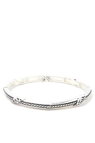 Rope pattern metal stretch bracelet-id.cc37880