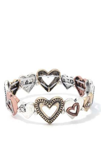 Heart shape stretch bracelet-id.cc37883
