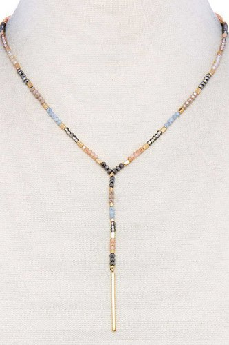 Multi beaded fashion necklace-id.cc37893