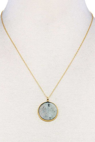 Fashion circle pendant chic necklace-id.cc37894