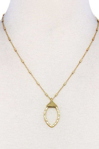 Fashion oval chic necklace-id.cc37895