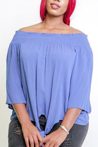 428da4bef22a43 Ladies fashion plus size boho contemporary elastic off the shoulder ...