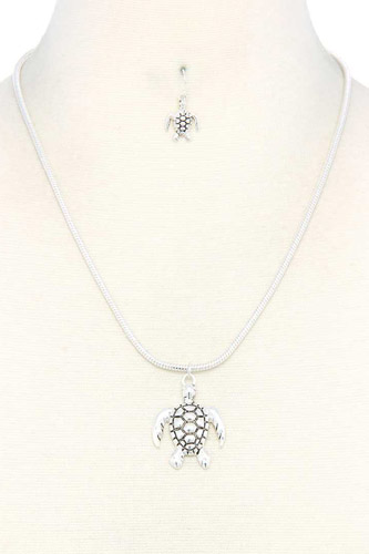 Sea turtle pendent necklace-id.cc37939
