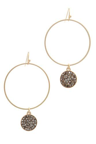 Rhinestone circle drop earring-id.cc37952