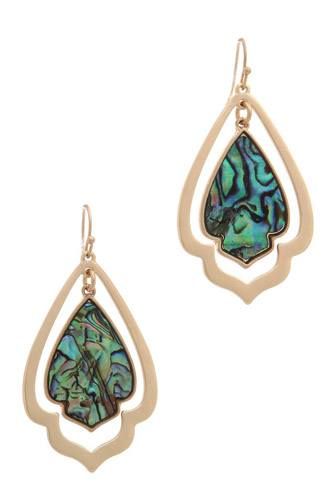 Double moroccan shape drop earring-id.cc37953