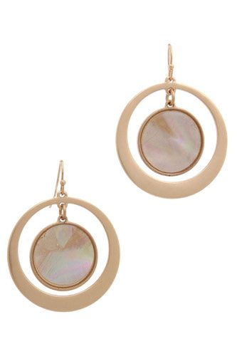 Double circle drop earring-id.cc37954
