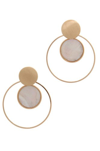 Double circle post drop earring-id.cc37956
