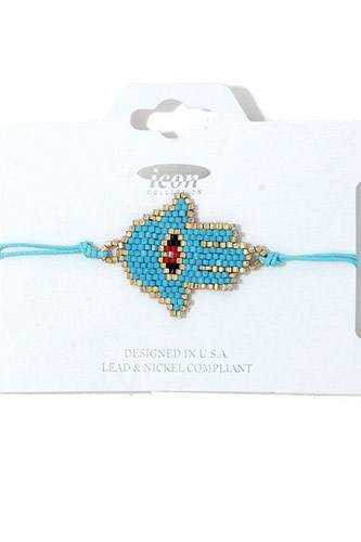Hamsa hand beaded adjustable bracelet-id.cc37960