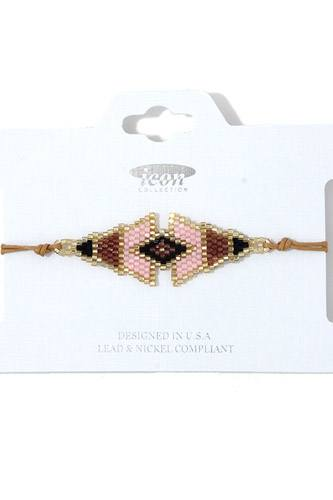 Triangular shape beaded adjustable bracelet-id.cc37962