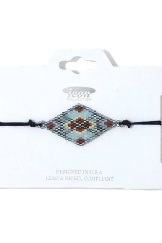 Rhombus shape beaded adjustable bracelet-id.cc37963