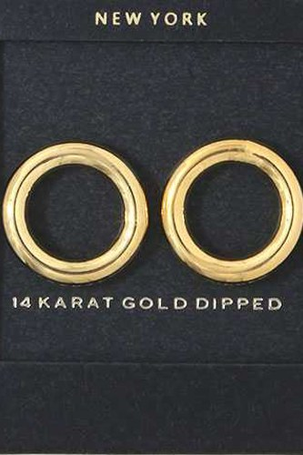 Tube circle post earring-id.cc38023