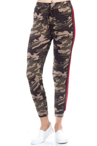 Camo side stripe taping pants-id.cc38518
